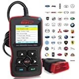 OBDScar OS601 EOBD OBD2 Scanner Automotive Engine Fault Code Reader CAN Diagnostic Scan Tool (2018 Model) (Color: Red&Black, Tamaño: OS601)