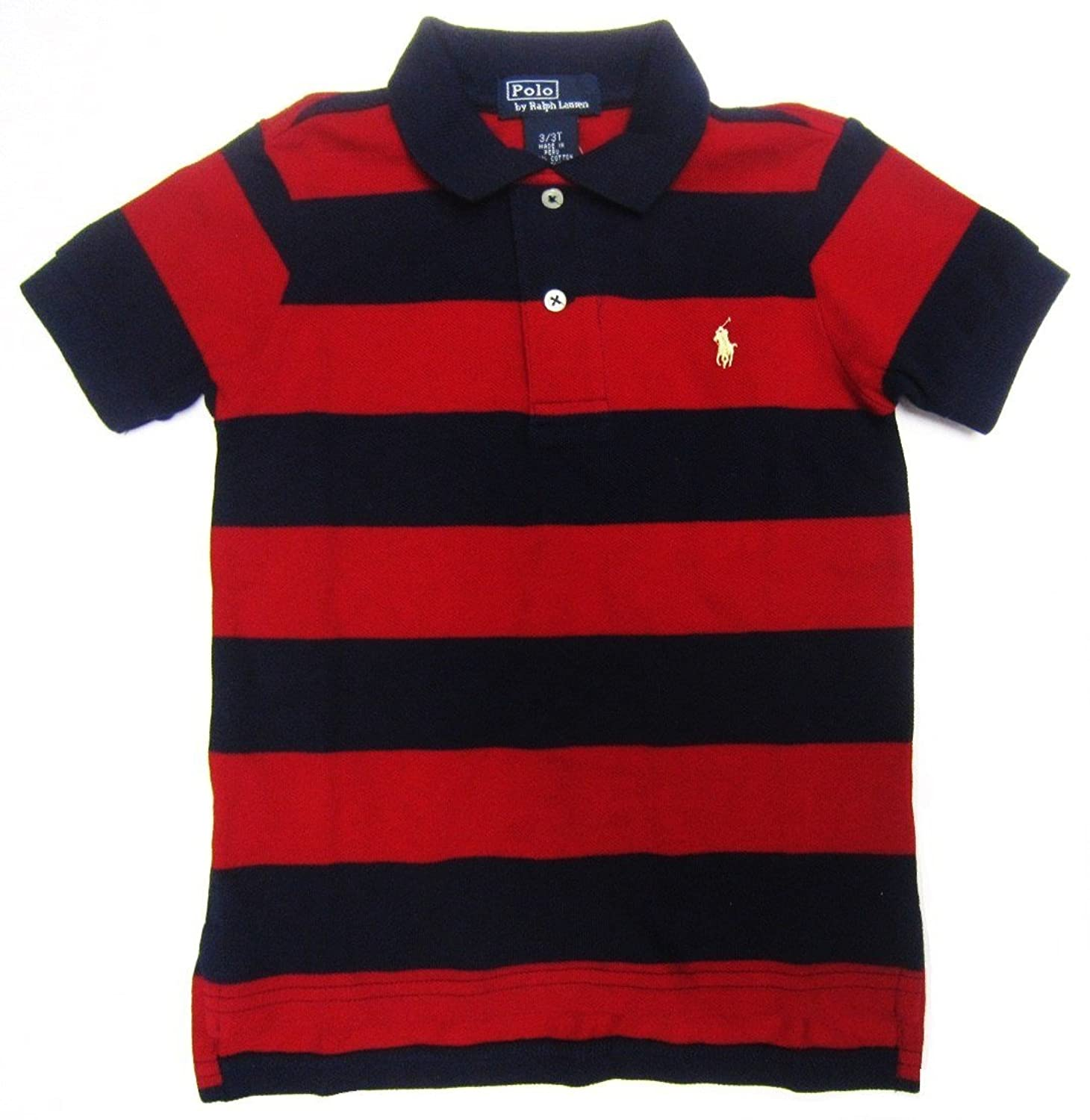 Ralph lauren custom leisure breathable pink navy stripe polo for Personalized polo shirts for toddlers