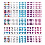 PandaHall Elite 470pcs 5 Shapes 5 Colors Self-Adhesive Acrylic Rhinestone Sticker, Drop/Heart/Oval/Round/Octagon Craft Jewels Crystal Colorful DIY Gem Stickers for Nail Art Makeup Body Scrapbooking (Color: 5 Colors-25 Sheets, Tamaño: Drop/Heart/Oval/Round/Octagon)
