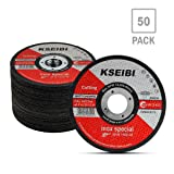 KSEIBI 50 Pack 646004 Angle Grinder Cut Off Wheels for Cutting Metal Stainless Steel 4-1/2