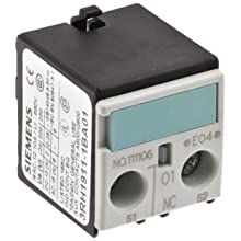 Siemens 3RH19 11-1BA01 Auxiliary Switching Block For Contactor, S00 Size, Screw Connection, 1 Pole, 1 NC Contacts