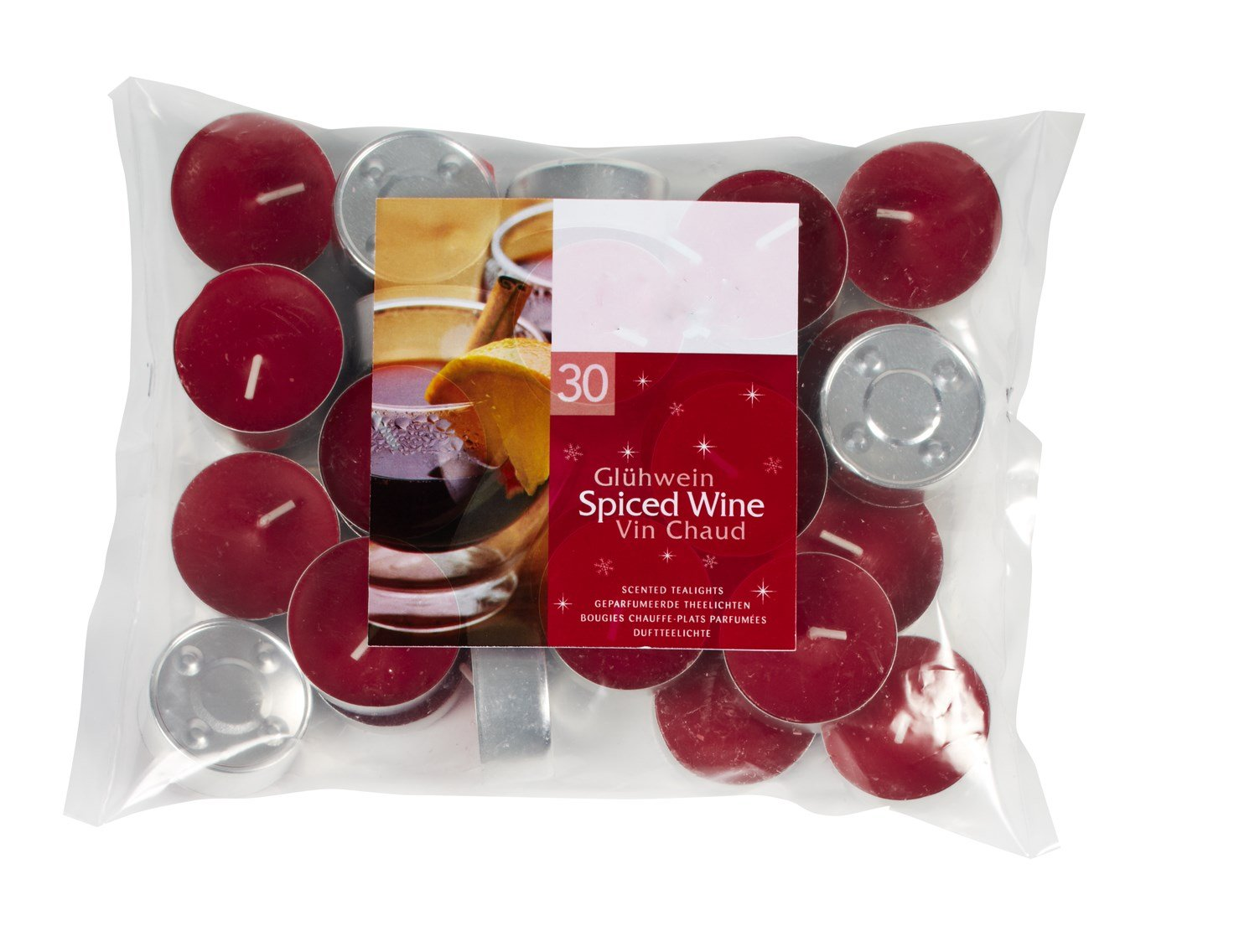 Spiced Wine Scented Tealight Candles Set of 30 whispers in the dark