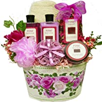 Art of Appreciation Gift Baskets Mums English Rose Garden Spa Bath and Body Set