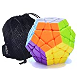 MoYu Aircee YJ Yuhu Megaminx Puzzle Cube Puzzle Stickerless Bag (White) (Color: White)