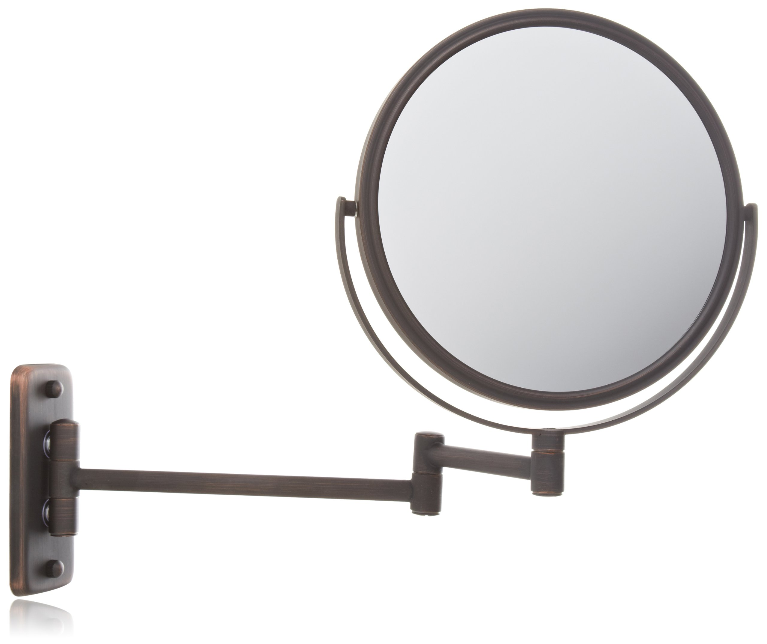 Jerdon jp7506bz 8 inch wall mount makeup mirror with 5x for Wall mounted mirror