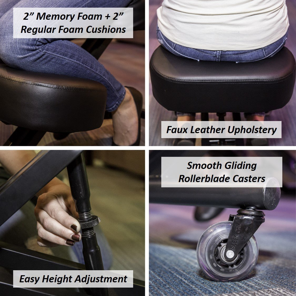 """Sleekform Kneeling Chair for Perfect Posture 