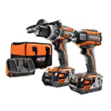 Ridgid 18-Volt Gen5X Lithium-Ion Cordless Brushless Hammer Drill and Impact Driver Combo Kit with (2) 4.0Ah Batteries