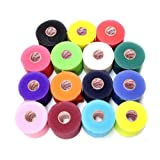 Mueller Underwrap - PreWrap for Athletic Tape/Taping/Head/Hair Bands - Rainbow Assorted Colors - 12/PACK (Color: Rainbow, Tamaño: 12)
