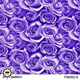 Hydrographic Film-Hydro Dipping-Flower Hydro dip 1M Length for DIY 13 Designs for Choosing (052-5) (Color: 052-5)