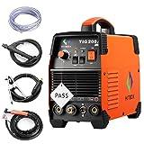 200 amp Portable TIG Welding Machine High Frequency 220V TIG MMA 200 with TIG Stick IGBT Inverter Welder (Color: Blue, Tamaño: TIG200A)