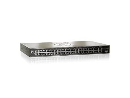 "levelone switch Ethernet Unmanaged 19"", 48 + 2 + 1 48 ports RJ45 10/100BaseTX, 2 ports RJ45 10/100/1"