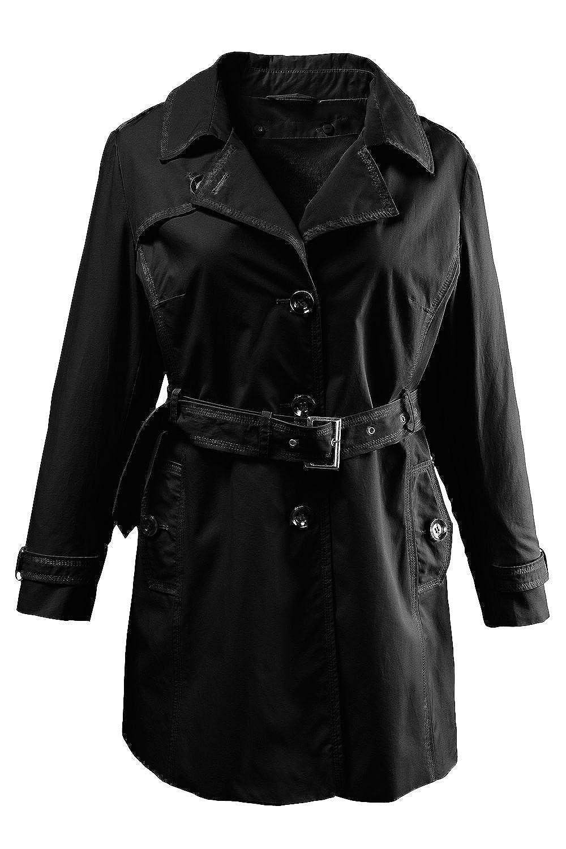 Ulla Popken Damen Trenchcoat mit Weste 697100 große Größen günstig bestellen