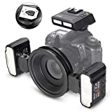 MEIKE MK-MT24II-C 2.4g Wireless Macro Twin Flash Kit for Canon DSLR and Mirrorless Cameras