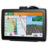 GPS Navigation for Car, 7 Inch 16GB HD Touch Screen Built-in Android System GPS Navigation System Spoken Turn-by-Turn Directions for Car Vehicle GPS Navigator with Lifetime Map Update (Color: 2019 New Map 7075)