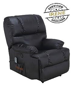 Fauteuil de massage et relax Irène manuel haute gamme noir