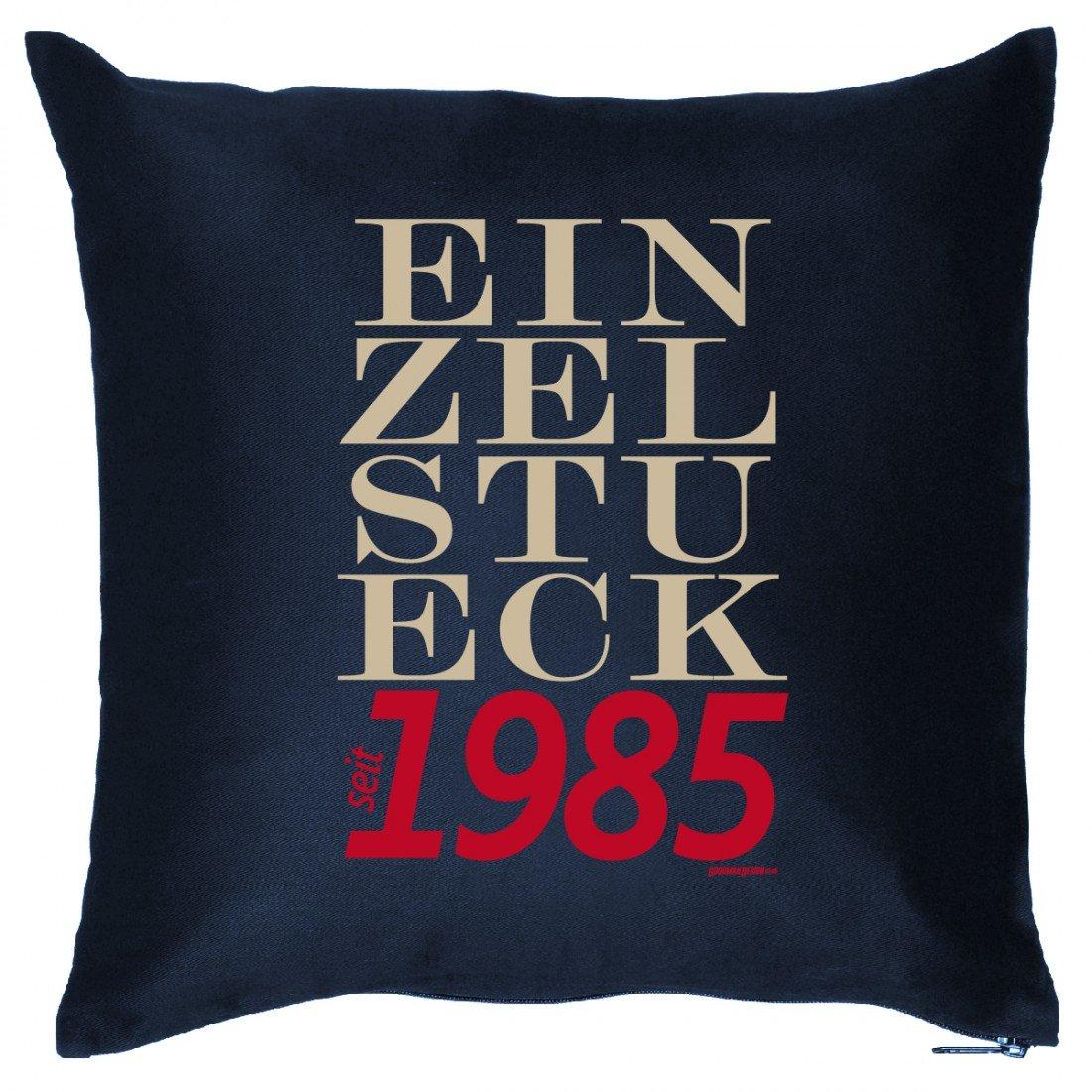 Couch Kissen mit Jahrgang zum Geburtstag - Einzelstück seit 1985 - Sofakissen Wendekissen mit Spruch und Humor