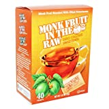 Monk Fruit in the Raw Sweeteners, 40 ct (2 pack), 1.12 Oz (Tamaño: 2 Pack)
