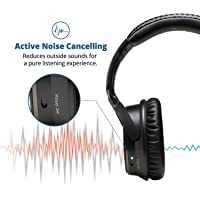 iDeaUSA V201 Over-Ear Active Noise Cancelling Bluetooth Headphones