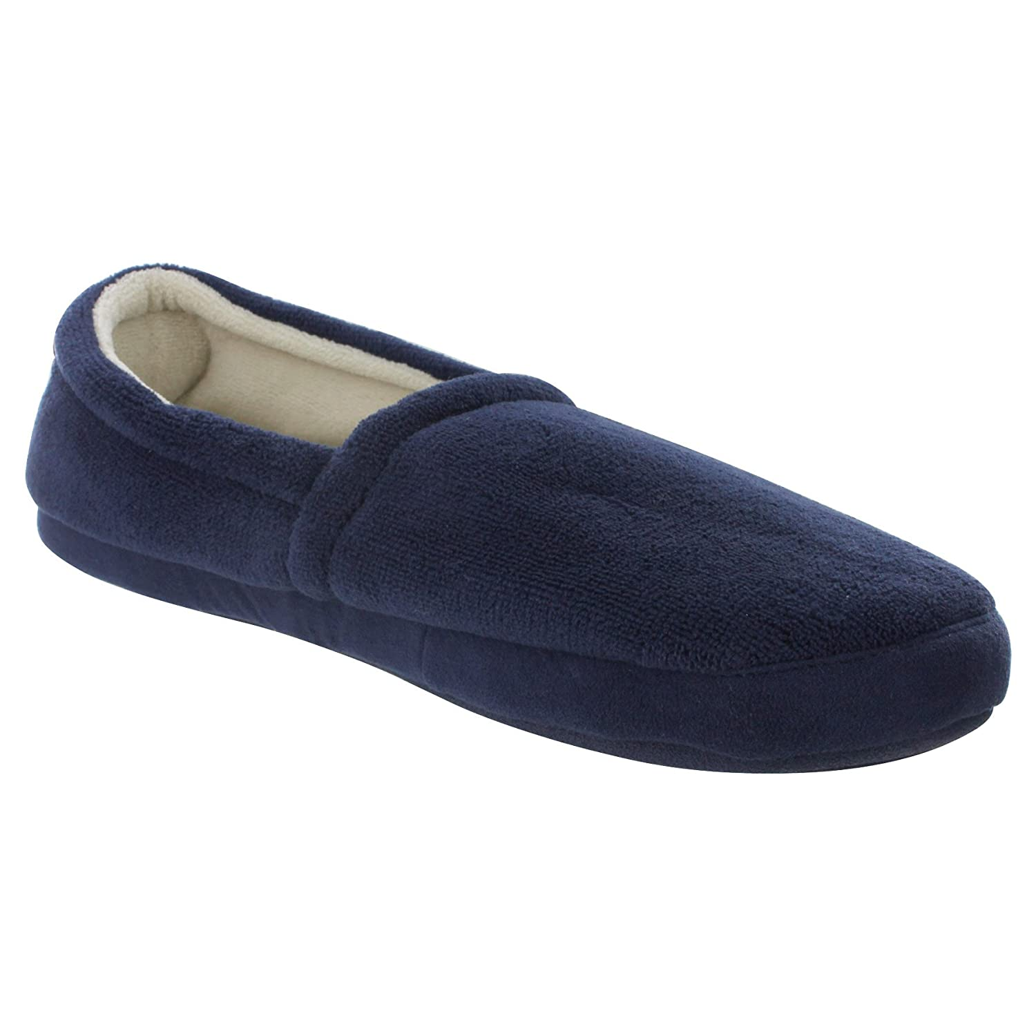 Mens Fleece Lined Slippers rugged compass clip