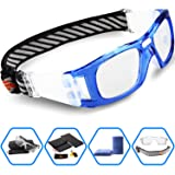 PONOSOON Sports Goggles Glasses for Basketball Football Volleyball Hockey 1827 (Sky Bule) (Color: Sky Bule, Tamaño: middle)