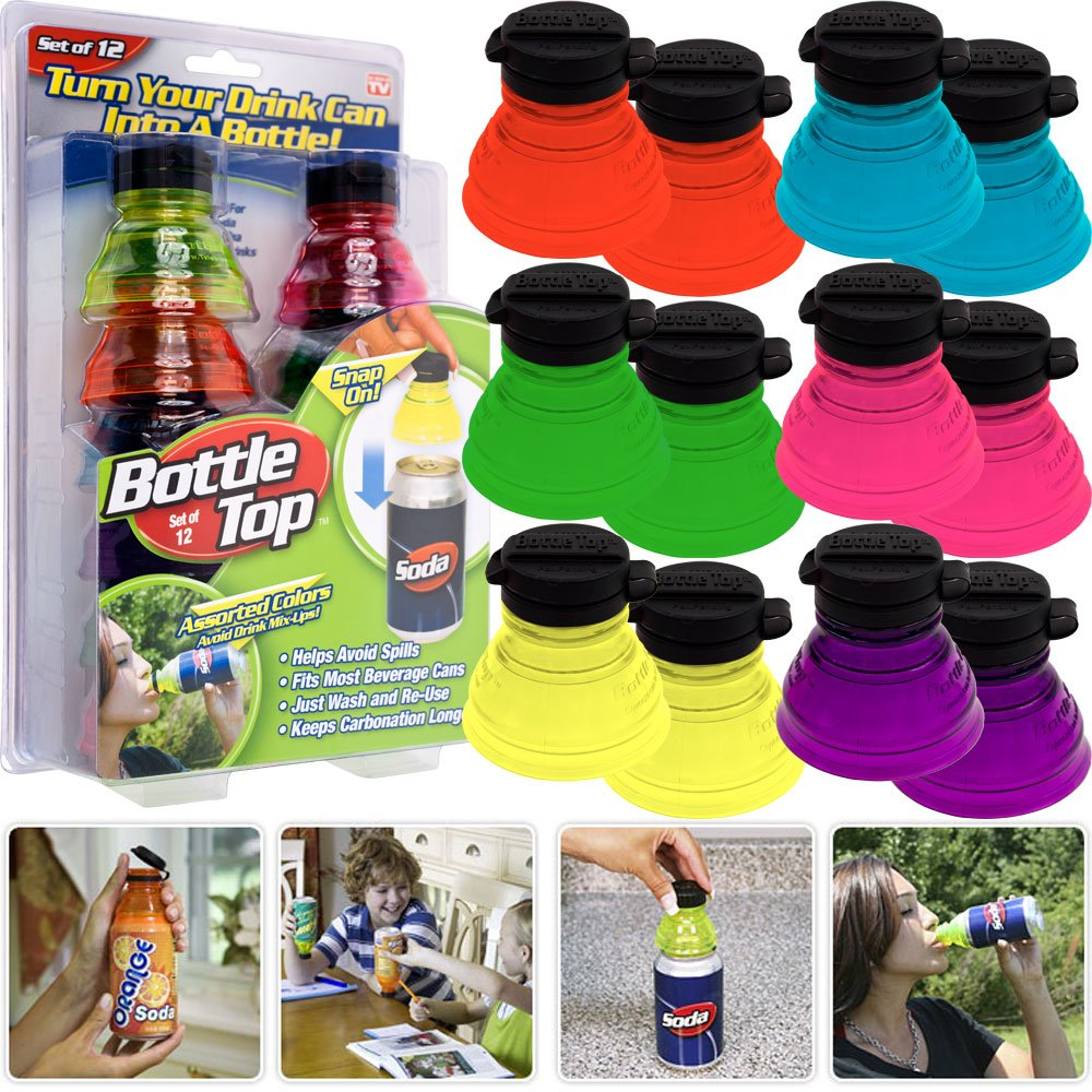 as seen on tv bottle top soda can snap on toppers set of