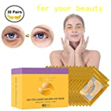 30 Pairs Under Eye Patches, Under Eye Bags Treatment Gold Under Eye Mask Anti-Aging for Moisturizing and Reducing Dark Circles Puffiness Wrinkles (Tamaño: 30 Pairs)