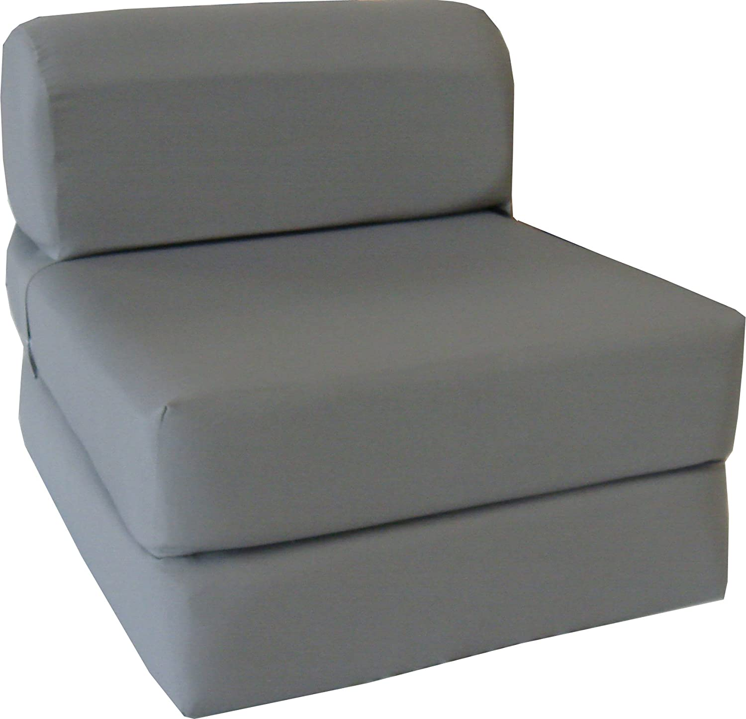 gray sleeper chair folding foam bed sized 6 thick x 32 wide x 70