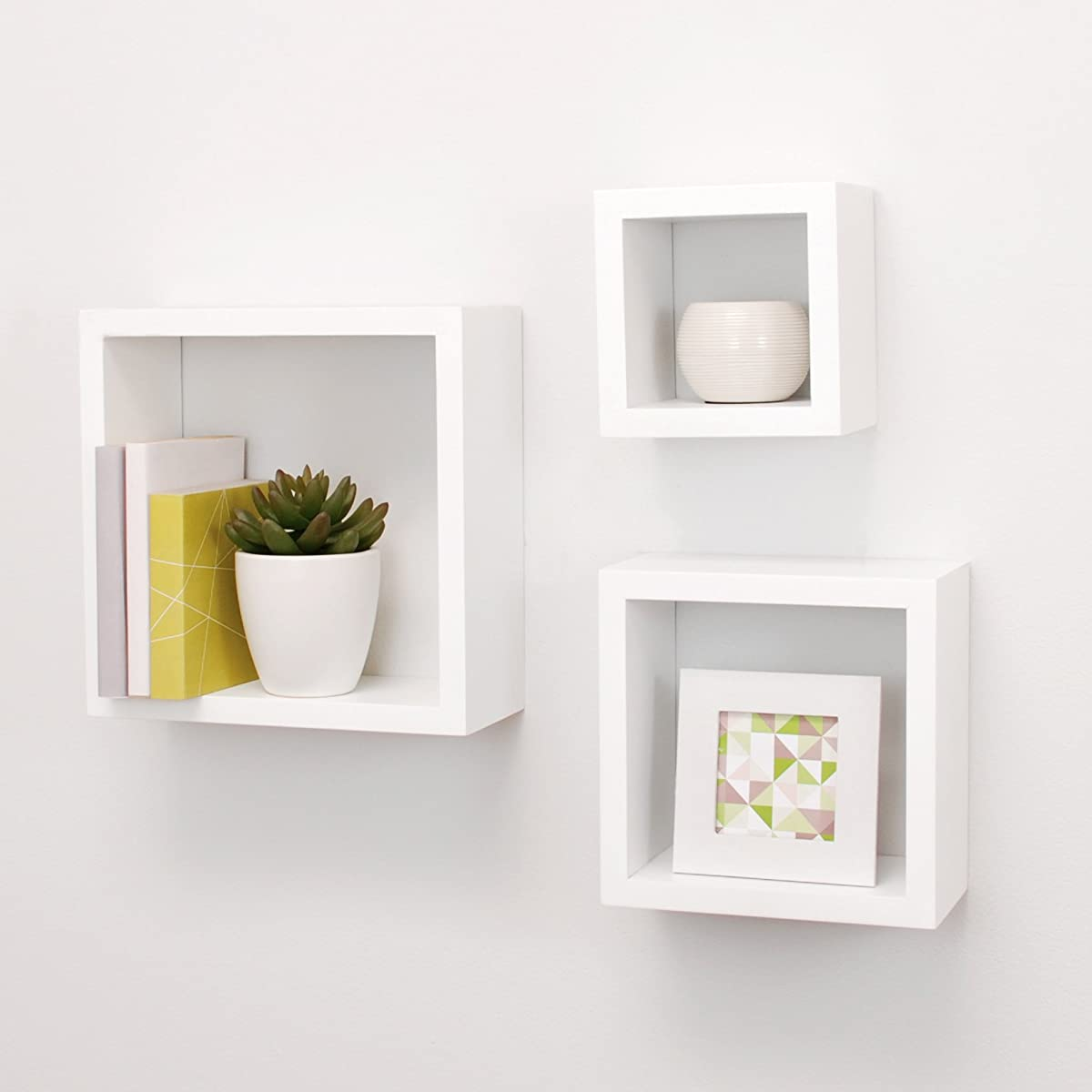 Nexxt cubbi contemporary floating wall shelves 5 by 5 inch 7 by 7 nexxt cubbi contemporary floating wall shelves 5 by 5 inch 7 by 7 inch 9 by jeuxipadfo Image collections