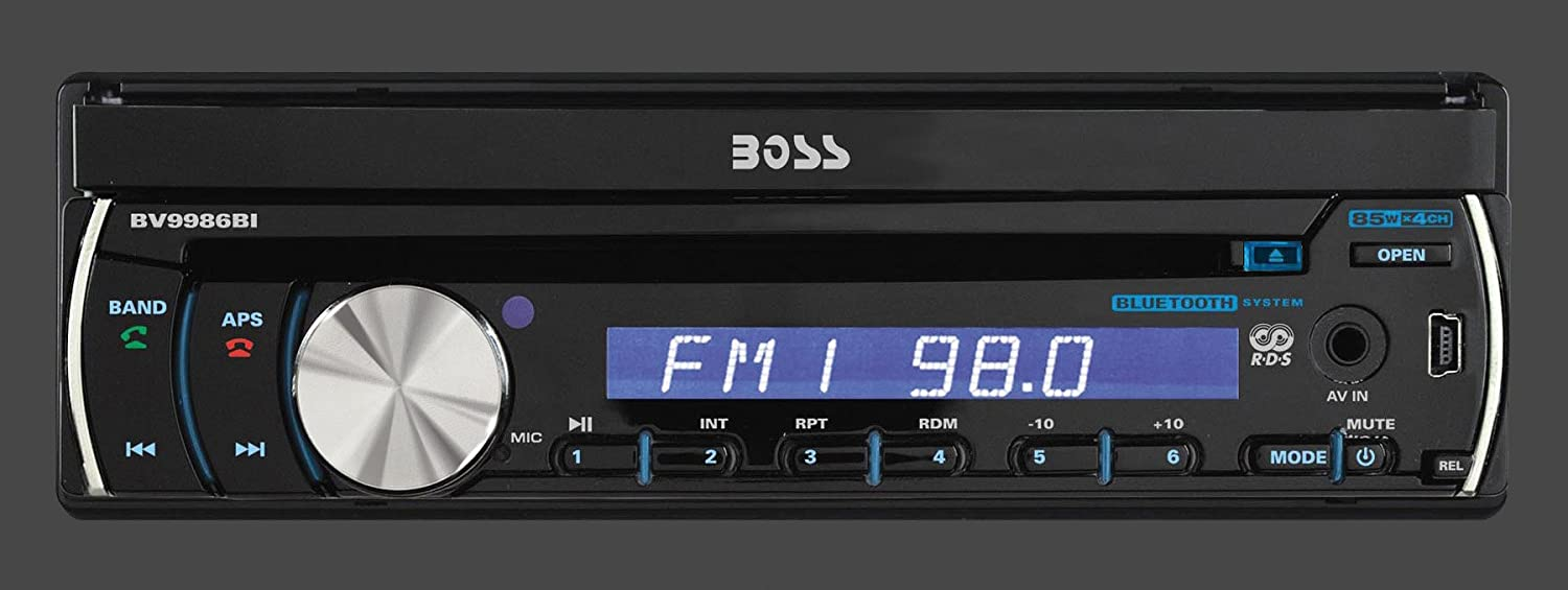 Amazon.com : BOSS Audio BV9982I In-Dash Single-Din 7-inch Motorized Detachable Touchscreen DVD/CD/USB/SD/MP4/MP3 Player Receiver with Remote : Vehicle Dvd Players