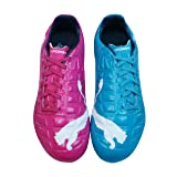 PUMA Evopower 3 Tricks FG Boys Soccer Boots/Cleats - Blue and Purple-Multicolored-6.5 (Color: Multicolored, Tamaño: 6.5 M US)