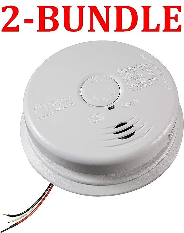 Kidde 21026514 Worry-Free Hardwire Interconnect Ionization Sensor Smoke Alarm, White (Smoke Alarm (2-Bundle))