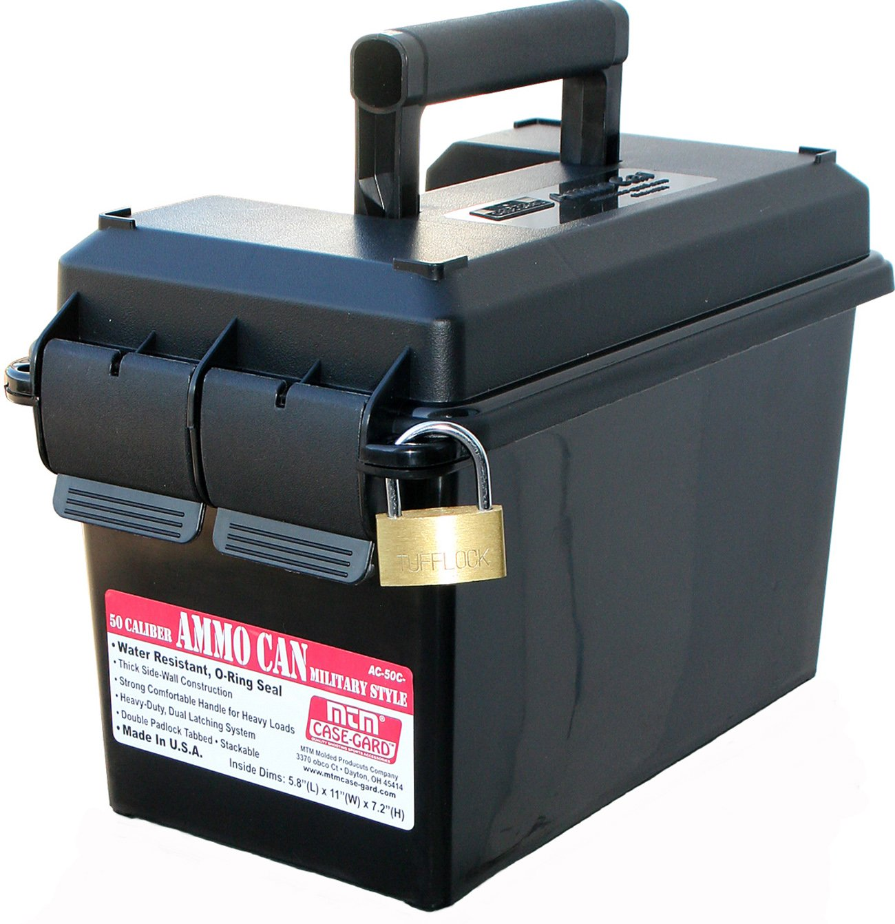 MTM 50 Caliber Ammo Can (Black)$7.29