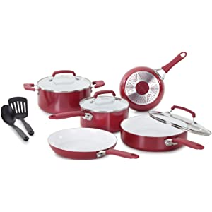 WearEver C944SA Pure Living Nonstick Ceramic Coating PTFE-PFOA-Cadmium Free Dishwasher Safe Oven Safe Cookware Set, 10-Piece review
