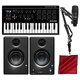 M-Audio Axiom AIR Mini 32 USB MIDI Keyboard with Marantz Pod Pack 1 USB Microphone Kit and PreSonus Eris E3.5 Studio Monitors Bundle