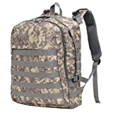 GINGOOD PUBG Tactical Backpack Military Rucksack Molle Assault Daypack for Adventure Trekking Hiking Camping Climbing Traveling School 30L Camo (Color: camouflage)