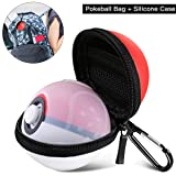 2 in 1 Pokeball Plus Case,Carrying Case Compatible with Nintendo Switch Pokeball Plus Controller,Portable Lets Go Pikachu Eevee Game Travel Pokeball Case Bag for Nitendo Switch Accessories Pokeball (Color: Pokeball bag+ Silicone case, Tamaño: Pokeball bag+ Silicone case)