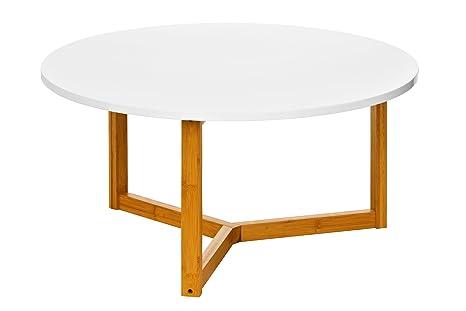 Premier Housewares 2402908 - Mesa nido de salón, color blanco