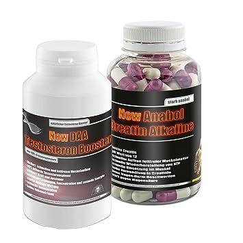 New Anabol Creatin Alkaline 120 Kaps.+New Daa Testosteron Booster 90g!Kreatin Testosteron Muskelaufbau Eiweiß Hormone Anabol Anabolika