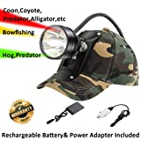 Cree LED Hunting Lights with Red & Green Hunting Light for Scanning Coons,Coyotes,Predators/Amber Light for Bowfishing/3 Powerful White Light for Night Outdoor Sports Premium Hunting Headlamp (Color: green)