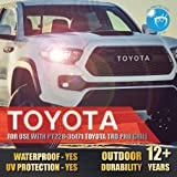 Toyota Tacoma TRD PRO Grille Letters 2016 2017 2018 Sticker Front Grill for (Part Number PT228-35171) Vinyl Decal [Gloss Super White] (Color: White)