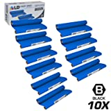 LD Compatible Replacements for Brother PC402 Set of 10 Thermal Fax Ribbon Refill Rolls for use in Brother FAX 560, FAX 575, FAX 580MC, Intellifax 560, 565, 580MC, and MFC-660MC Printers (Color: Set 10pk-Black)