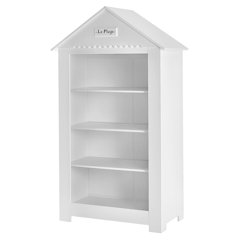 Kinder Regal Bücherregal Jugendregal Kinderzimmerregal MARSYLIA MDF breit 107,5×54,5x184cm weiß günstig kaufen