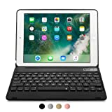 iPad Pro 9.7/iPad Air 2 keyboard case, [NEW] COOPER KAI SKEL Q0 Bluetooth Wireless Keyboard Portable Laptop Macbook Clamshell Case Cover with 14 Shortcut Keys for Apple iPad Air 2/Pro 9.7 Black