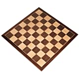 Apollo Tournament Chess Board with Inlaid Walnut and Maple Wood - Board Only - 20 Inch (Color: Brown, Tamaño: X-Large)