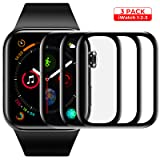 Screen Protector for Apple Watch Tempered Glass Scratch Resistant Anti-Bubble Film Screen Protector for Apple Watch 42 mm Series 3/2/1 - HD Clear Anti-Bubble [3 Pack] (Color: 42mm)