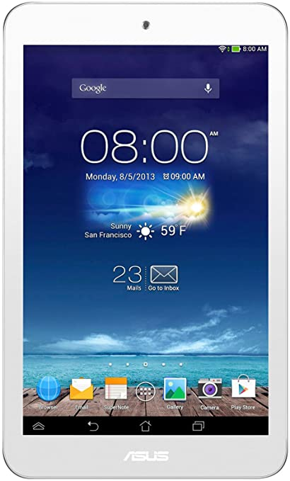 """Asus Memo Pad 8 ME180A-1A016A W Tablette tactile 8"""" (20,32 cm) Z2560 1,6 GHz 1 Go Android Jelly Bean 4.2.1 Wi-Fi Blanc"""