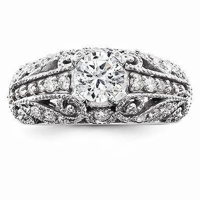 14k oro bianco aa diamante anello di fidanzamento da UKGems - 14k White Gold AA Diamond engagement ring by UKGems