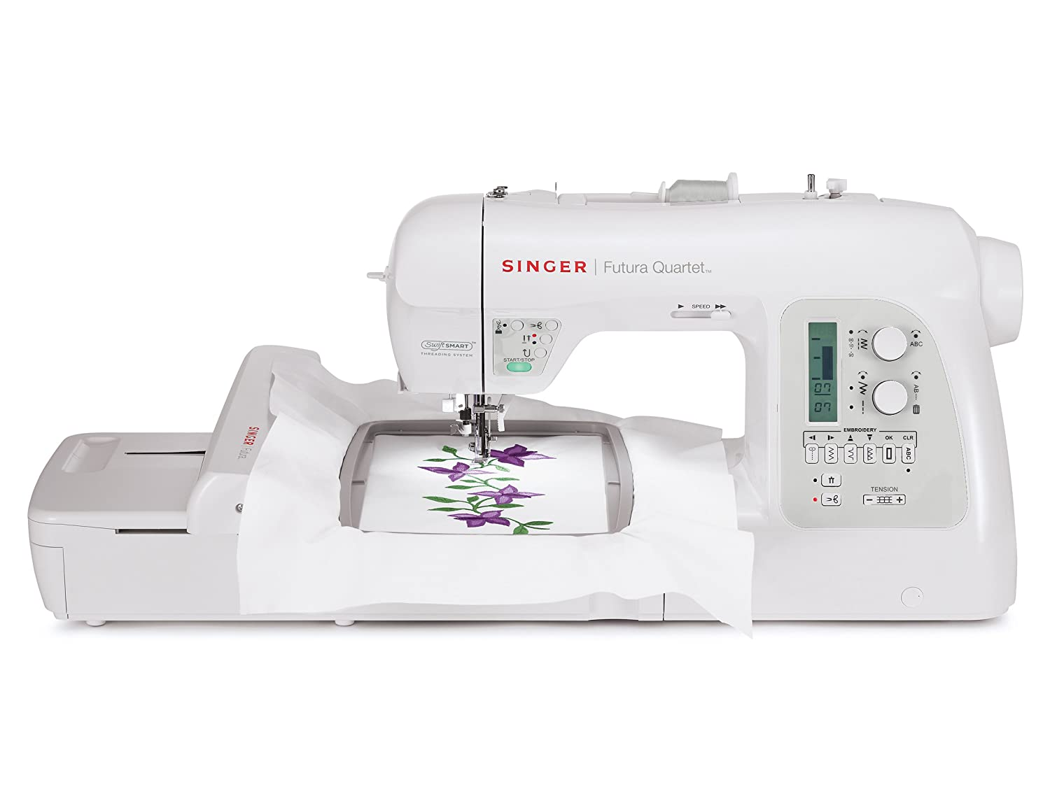 Singer 4-in-1 Futura Quartet Sewing, Embroidery, Quilting and Serging Machin