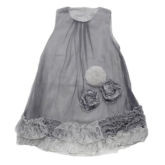My Queenie Little Girl Princess Dress Grey