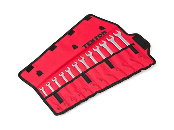 TEKTON Reversible Ratcheting Combination Wrench Set, 8-19 Mm, 12Piece with Pouch   WRN56190 (Tamaño: 12-Pc Metric Set)